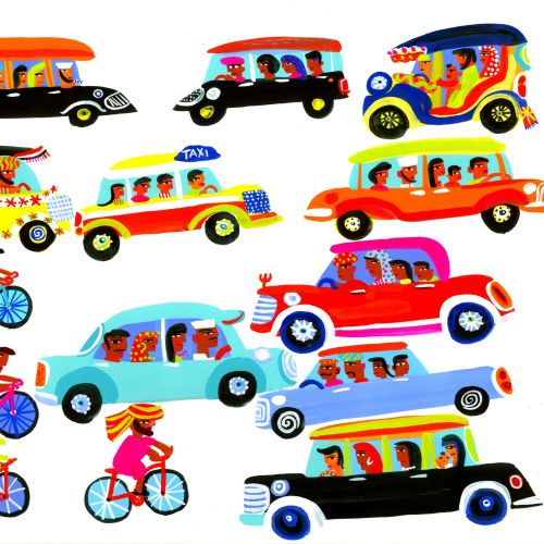Painting cars and bicycles