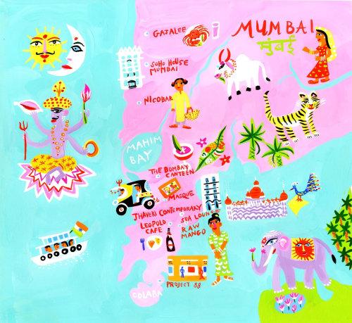 Maps Mumbai city