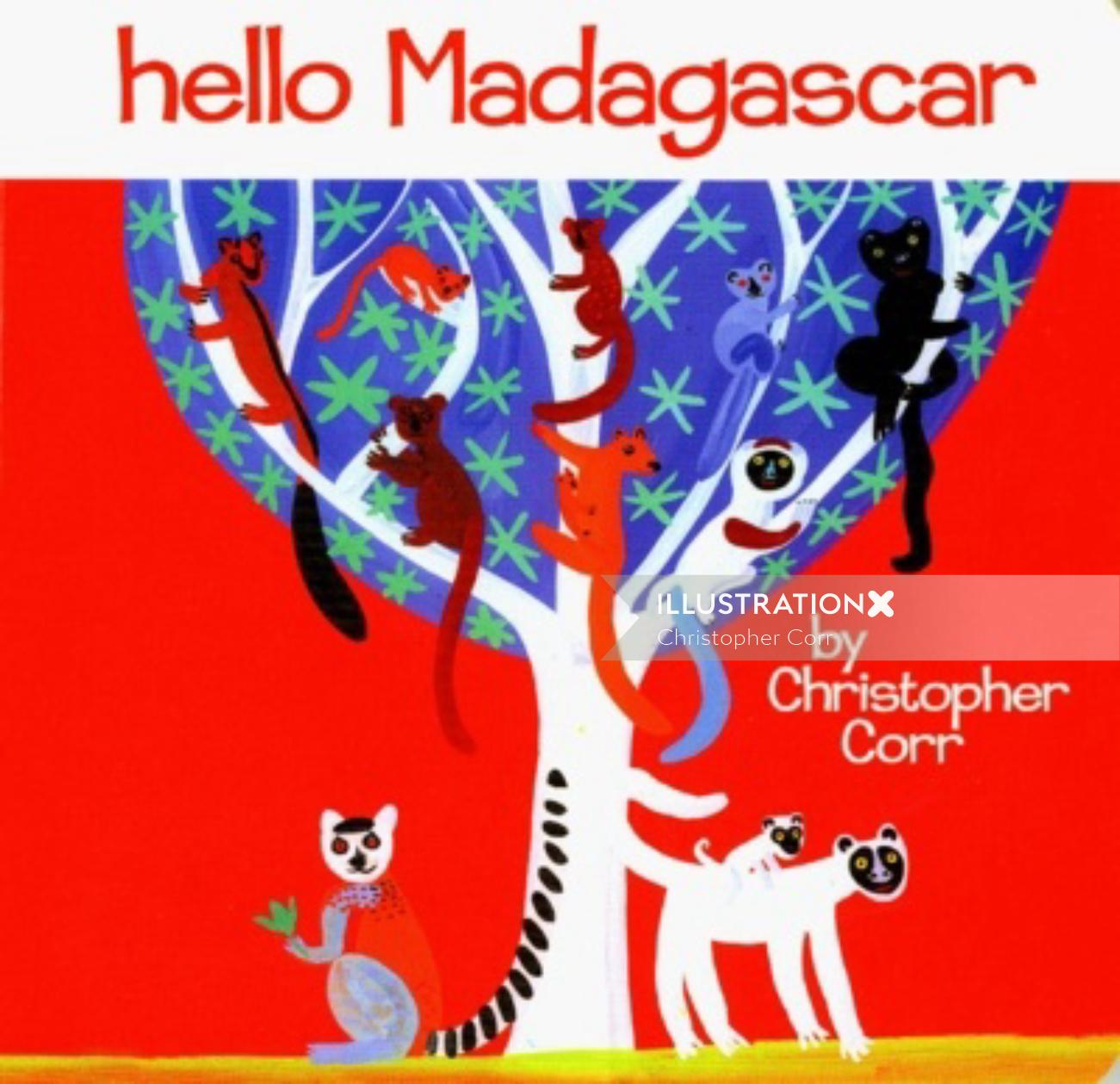 Madagascar animal illustration