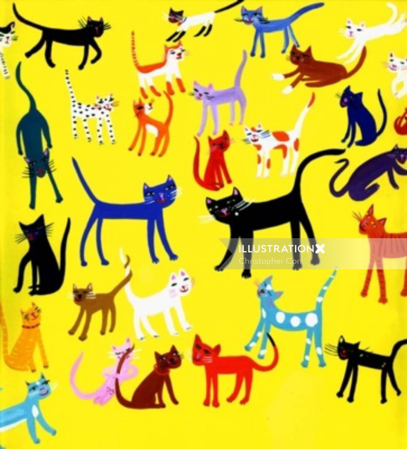 pop art of cats