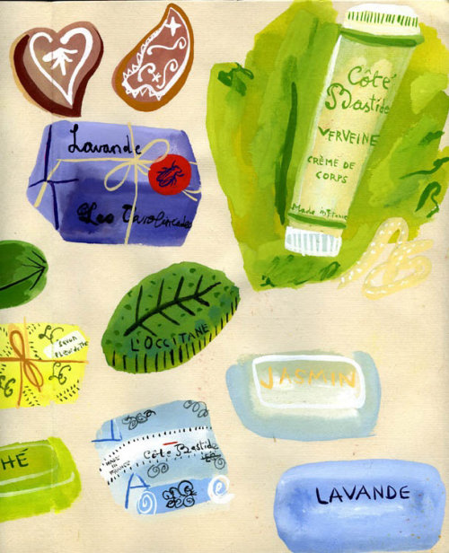 Different soaps illustration by Christopher Corr