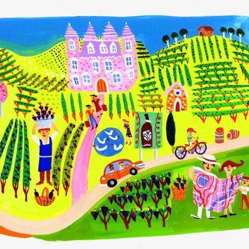 Illustration of Grape Vines