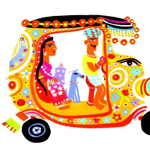 Illustration of Rickshaw