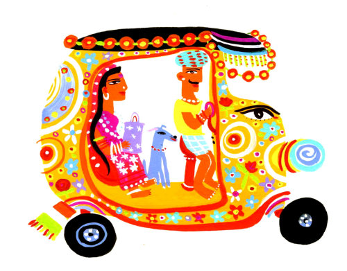 Illustration of Rickshaw