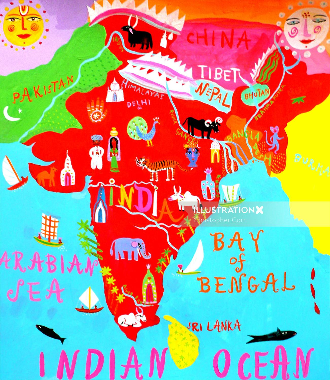India map illustration by Christopher Corr