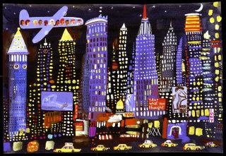 Illustration of NY night