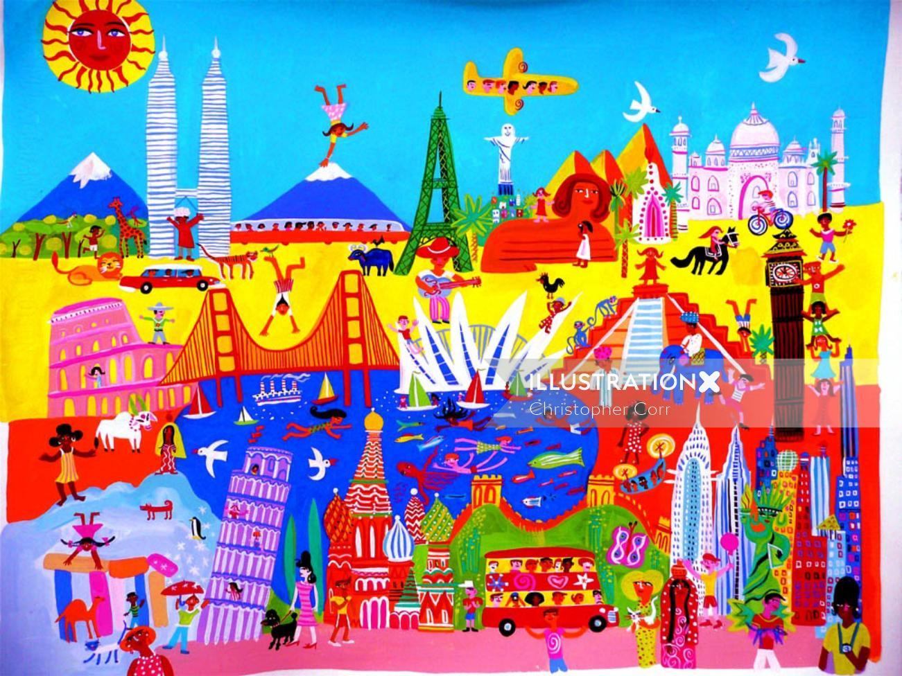World Party celebration for children book