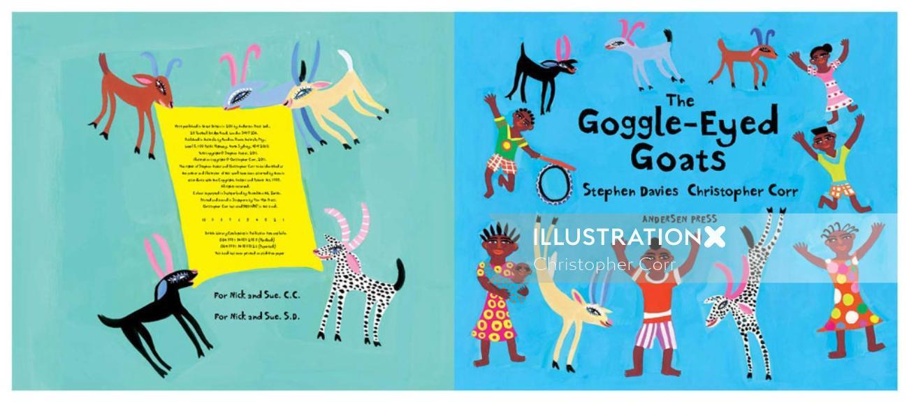 children the googled eyed goats