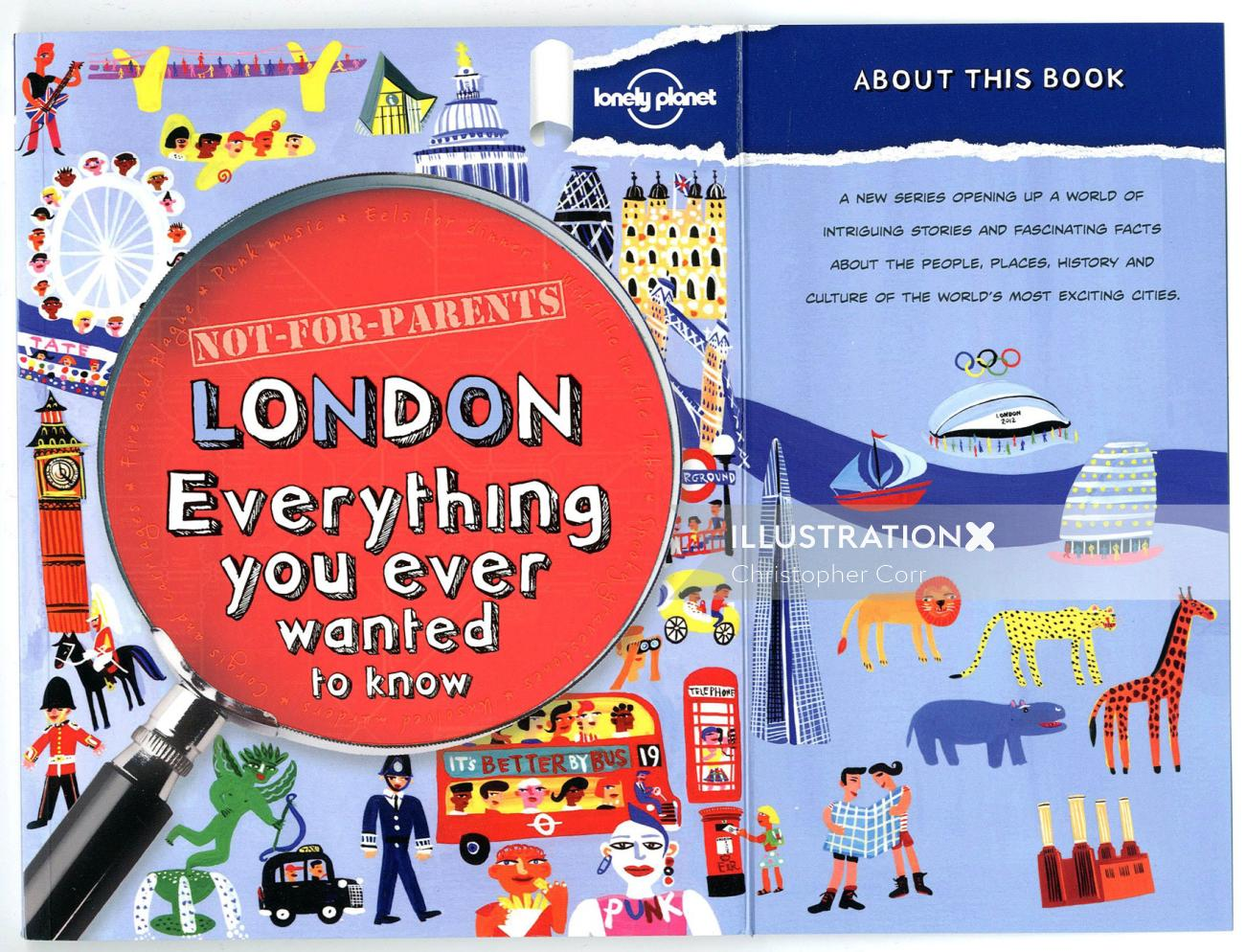 London City Guide lettering