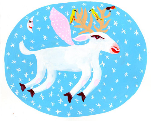 Cartoon Reindeer low res illustration by Christopher Corr