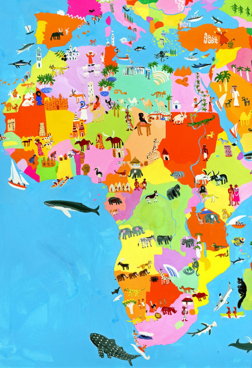 Africa map architecture