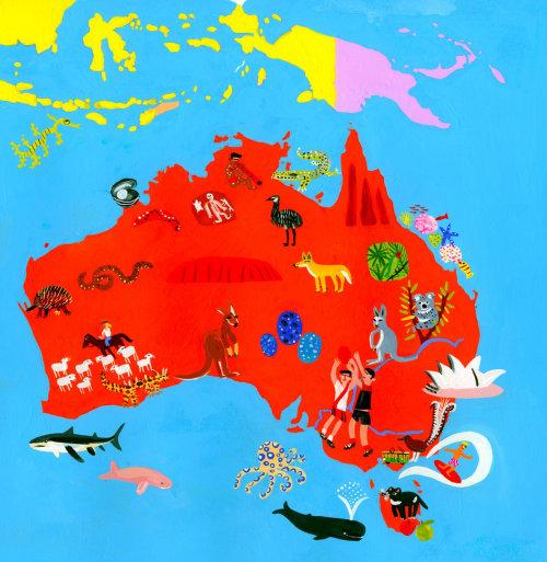 用水上动物地图澳大利亚