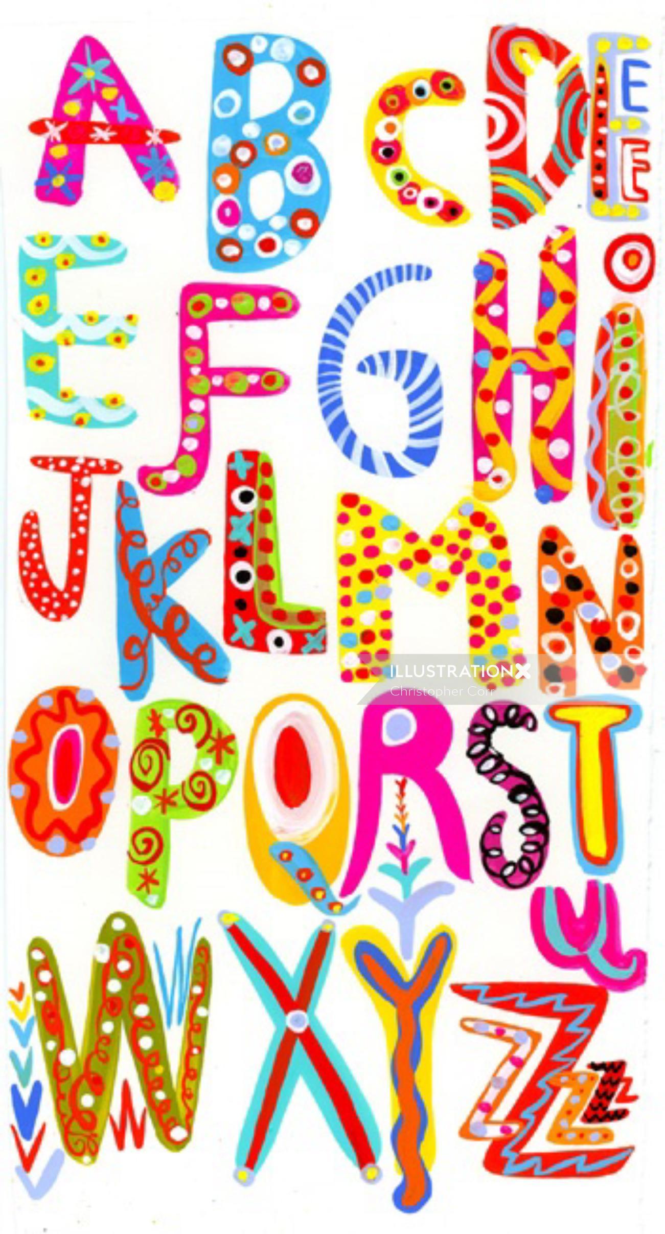 Alphabets illustration by Christopher Corr