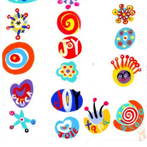 Joy symbols illustration