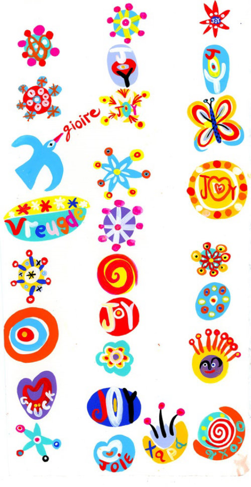 Joy symbols illustration