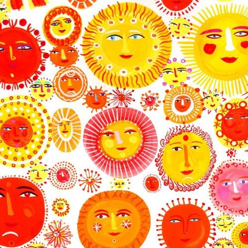 Different colored Sun illustration by Christopher Corr