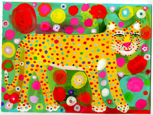 leopard illustration for children's book illustration by Christopher Corr