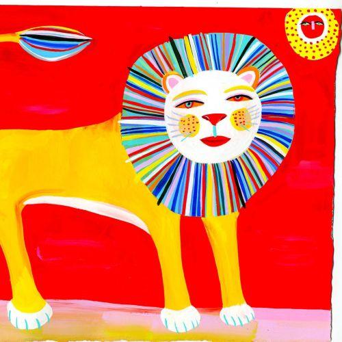 Lion illustration by Christopher Corr