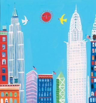 New York city illustration by Christopher Corr