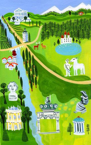 An illustration of German landscape