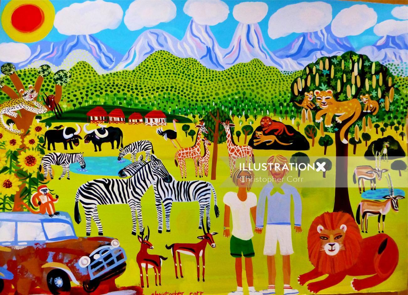 Illustration of Kidepo national park