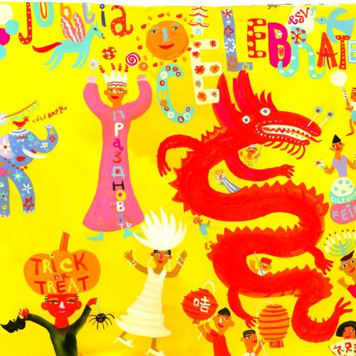 Chinese celebrations and Festivals illustration by Christopher Corr