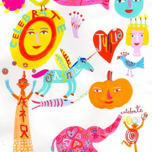 Illustration of Celebrate symbols - Christopher Corr