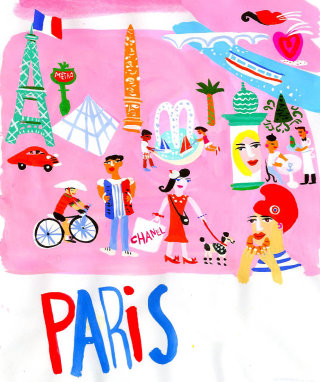 Paris illustration by Christopher Corr