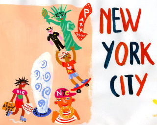 An illustration of the New York city by Christopher Corr