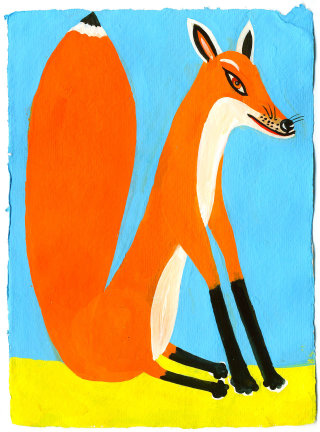 Cartoon illustration of a fox by Christopher Corr