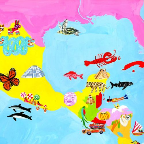 Cartoon Map of Mexico - An illustration by Christopher Corr