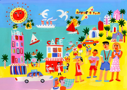 Illustration for vacation concept by Christopher Corr