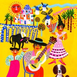 Spain traditional illustration by Christopher Corr