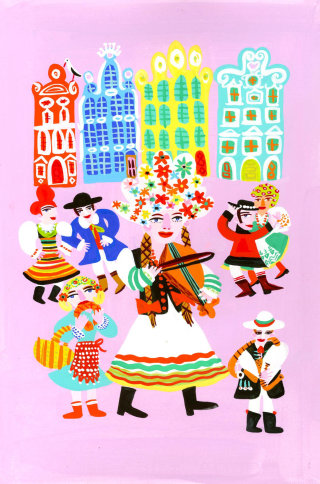Poland music style illustration by Christopher Corr