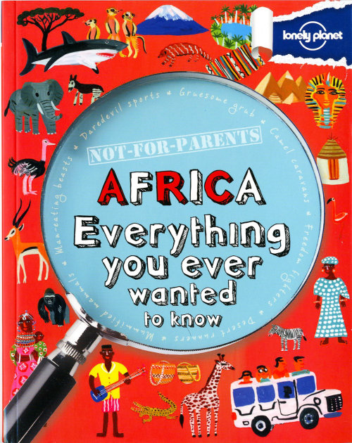 Africa guide book cover illustration by Christopher Corr