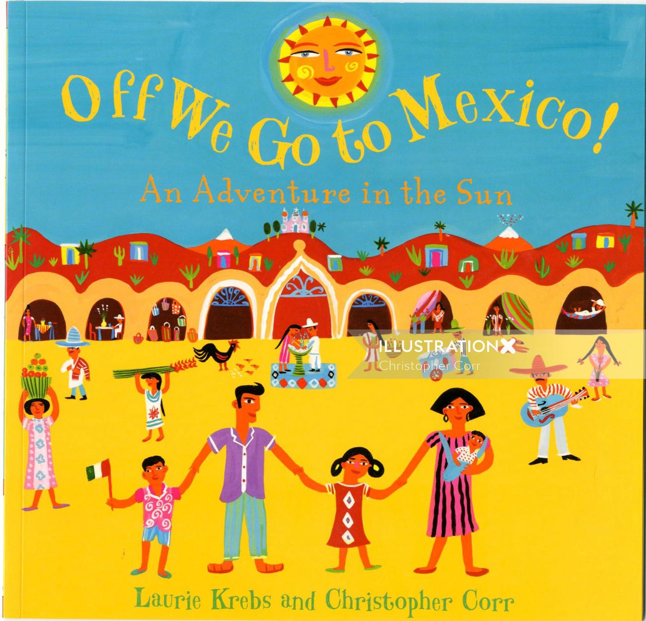 Mexico book cover illustration by Christopher Corr