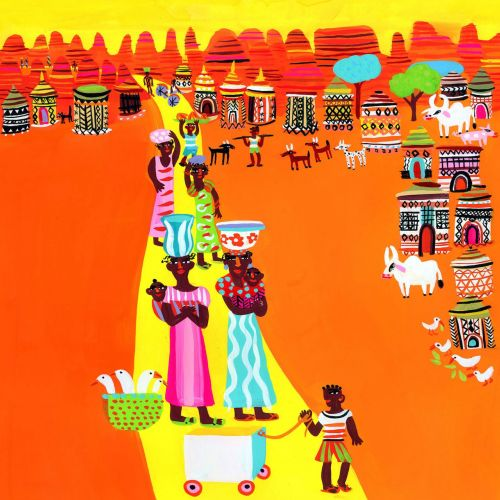Painting of indian village