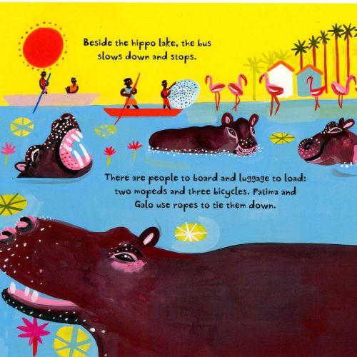 Animals painting Hippopotamus