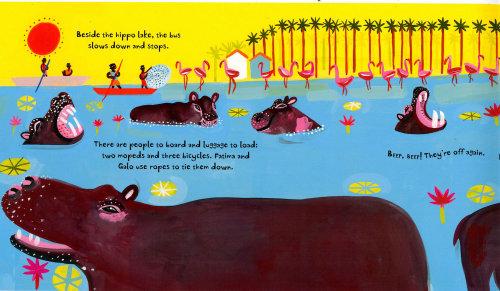 动物绘画河马