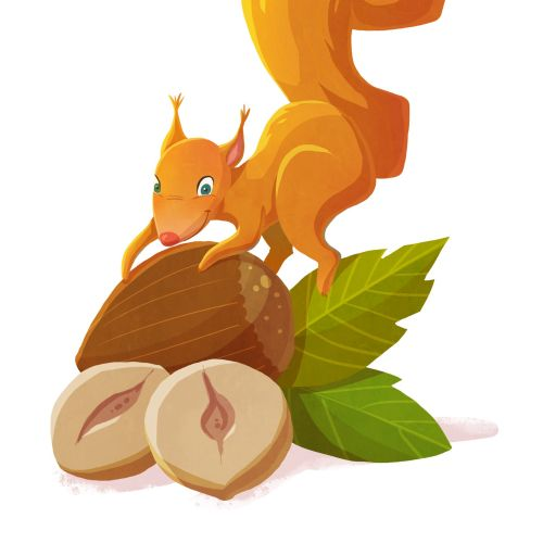 Red Squirrel animal character design by Cindy Fröhlich
