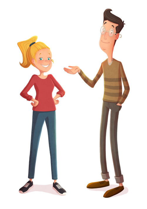 Character design of couple