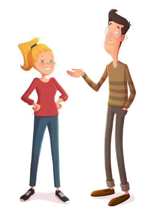 Conception des personnages du couple