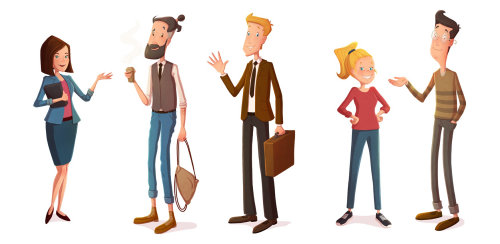 Character design talking people