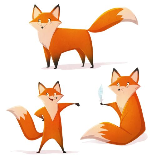 Animal character red fox