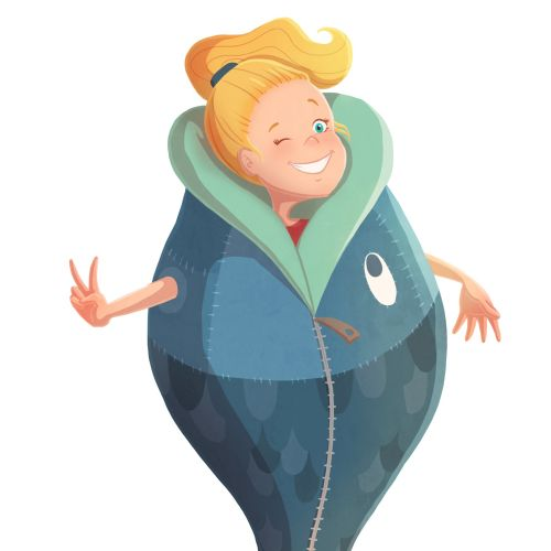 character design of a fat girl