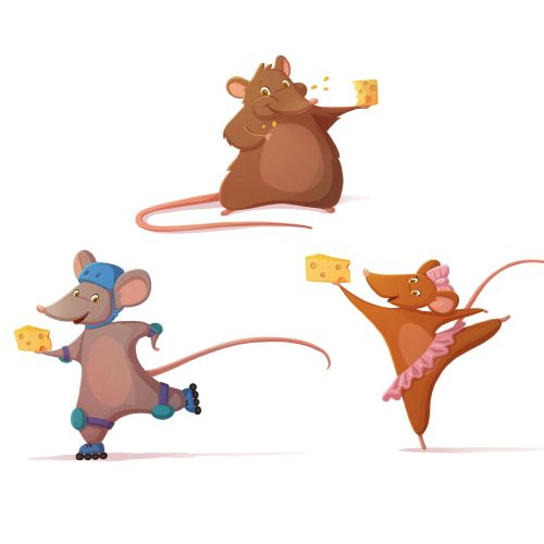 children illustration mouse with cheese