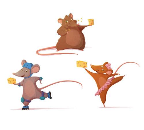 illustration des enfants avec du fromage