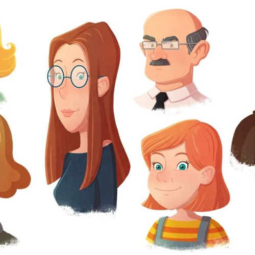 Character design of different people