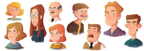 Diseño de personajes de diferentes personas.