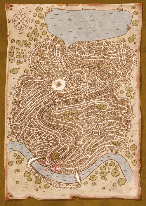 Graphic illustration of maps